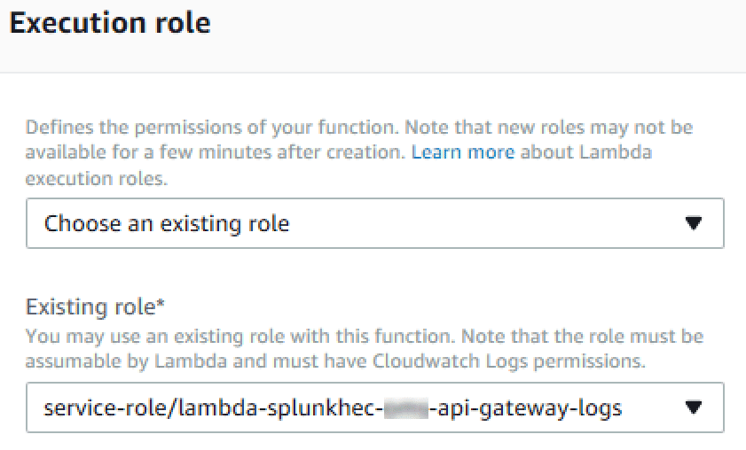 function role selection